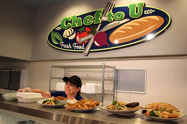 The Chef to U station will serve home-style lunches in the CAW Student Centre Marketplace this summer.