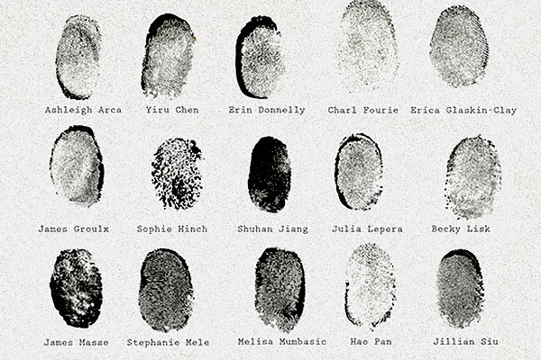 fingerprints of BFA students
