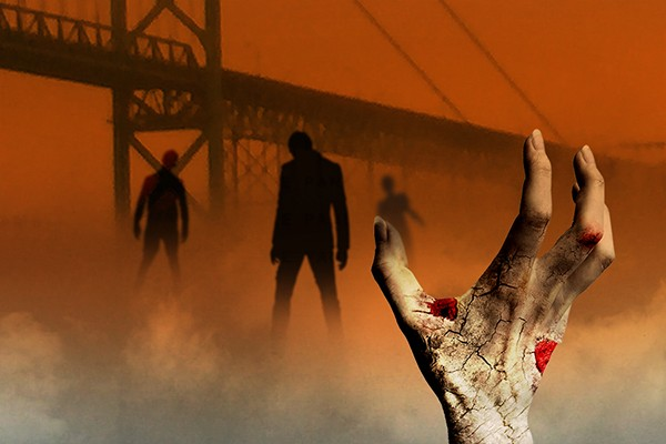 "poster image ""Interdisciplinary Approaches to Surviving the Zombie Apocalypse"""