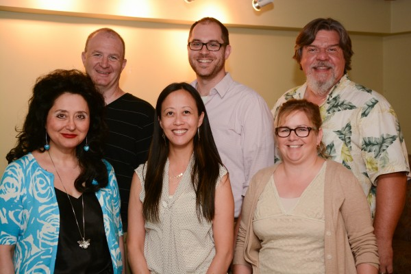 In the photo, from left to right, the new faculty members who attended orientation sessions last week, Second row: Tim Brunet, Scott Cowan, and Bruce Kotowich. First  row: Lili Saghafi , Phebe Lam, and Sherry Morrell.