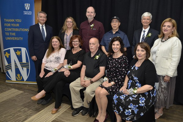 A luncheon Wednesday recognized faculty and staff reaching 25 years of service to the University in 2018.