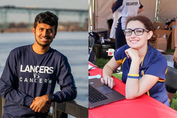 Varun Kumar Yacham and Rebecca Burkoski are this year's recipients of the Alumni Spirit Award.