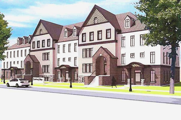 artist's rendering of 62-bed residence