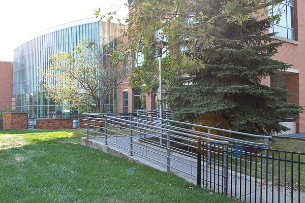 entrance to CAW Student Centre