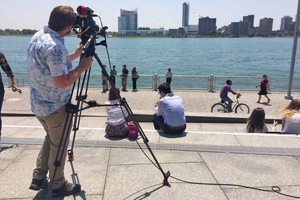 Filmmakers documenting the cleanup of the River Rouge watershed aim a camera at the Detroit waterfront.