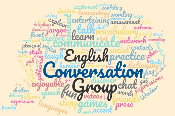 word cloud English Conversation Group