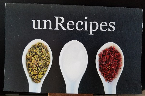 "chapbook titled ""unRecipes"""