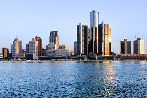 skyline of Detroit as seen from Windsor