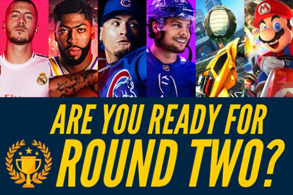 "Video games with text ""Are you ready for round two?"""