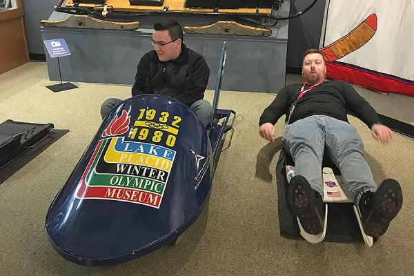 Bryan Dutot and Zachary Evans on bobsled and luge