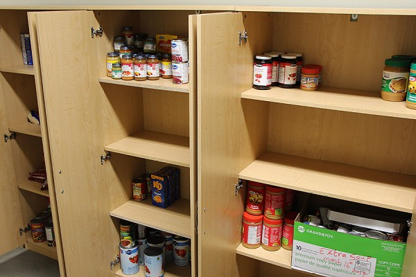 empty food bank cupboards