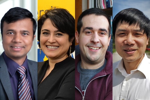 Professors Jalal Ahamed, Mitra Mirhassani, Simon Rondeau-Gagné, and Yufeng Tong