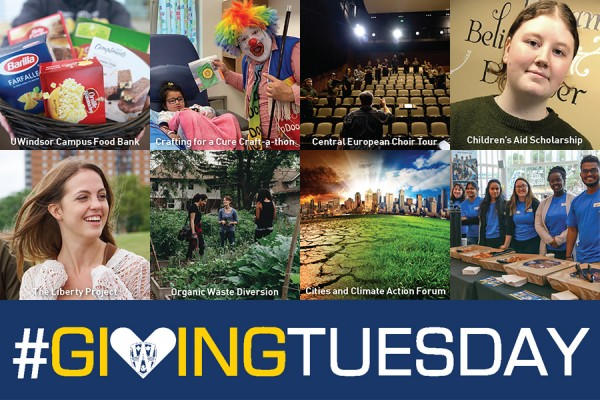 Photo collage labelled Giving Tuesday