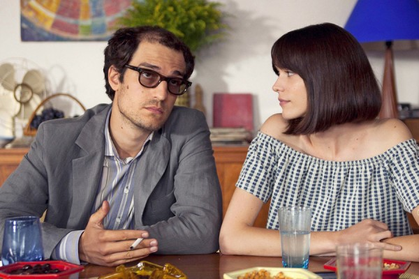 "Louis Garrel plays filmmaker Jean-Luc Godard and Stacy Martin plays actor and novelist Anne Wiazemsky in ""Godard Mon Amour."""