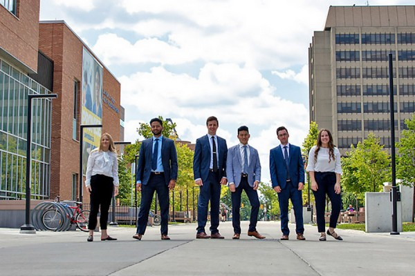 students in professional attire