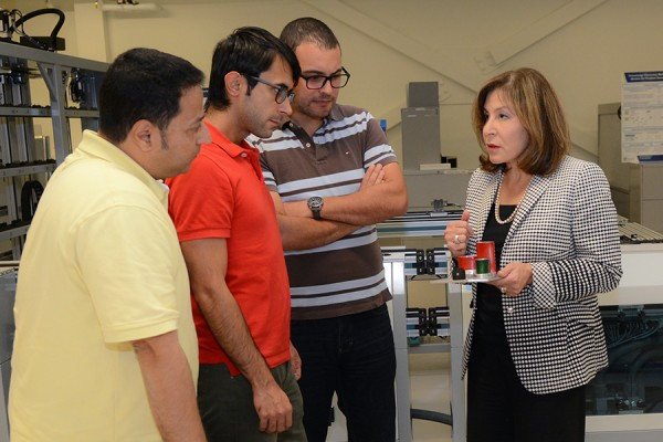 Hoda ElMaraghy with students