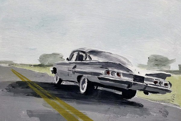 "Richard Storms' Impala 2, 2019, 16"" × 20"", acrylic on canvas."