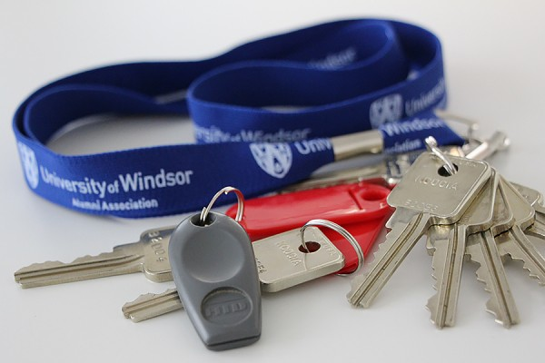 keys and fobs on UWindsor keychains