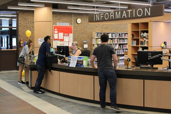 Leddy Library information desk