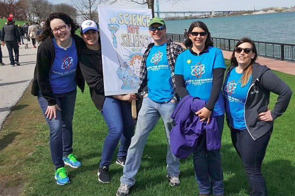 March for Science along Windsor's riverfront
