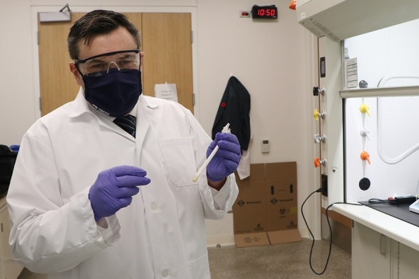 Mike McKay in lab at Great Lakes Institute for Environmental Research