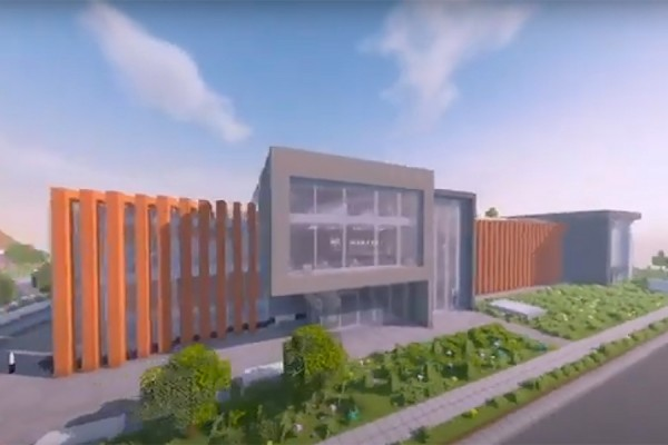representation of Centre for Engineering Innovation rendered in Minecraft