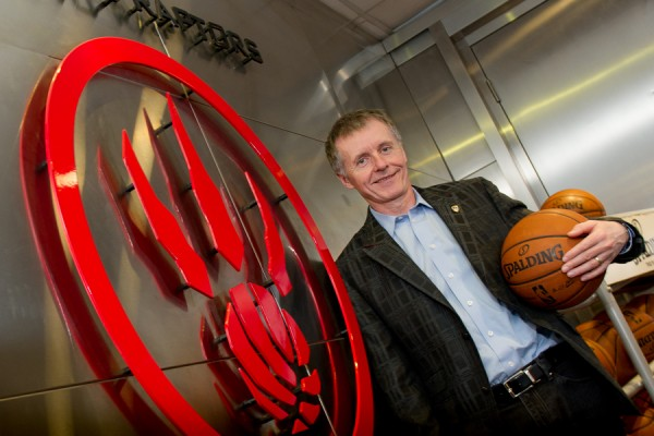 Alan Wildeman next to Raptors logo