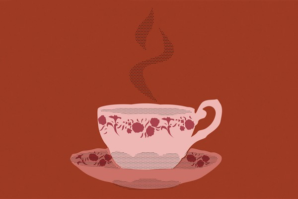 "poster image cup of tea ""Morning Sacrifice."""