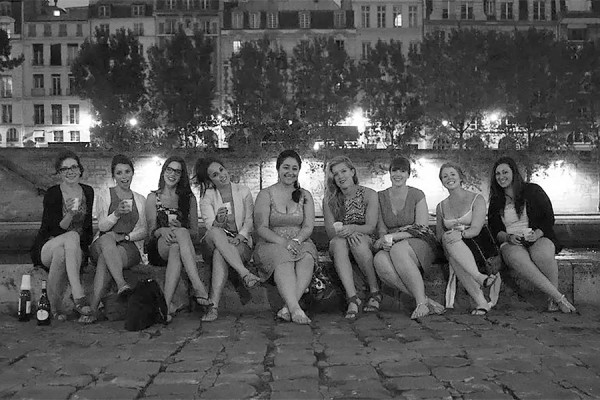Nine UWindsor students in Paris