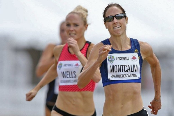 Noelle Montcalm competing in Olympic trials
