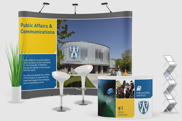 virtual booth representing the Office of Public Affairs and Communications.
