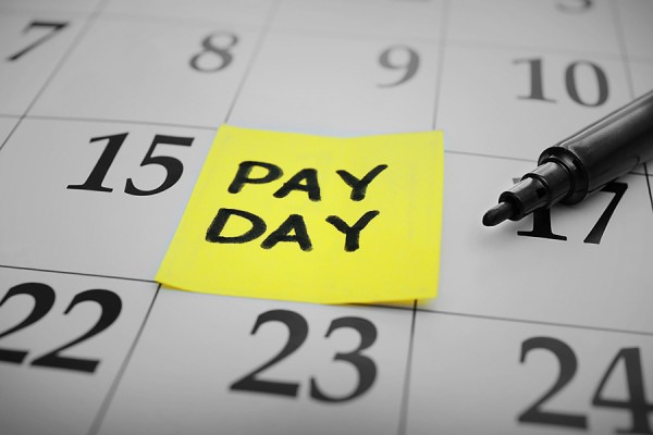 "Calendar marked ""Pay Day"""