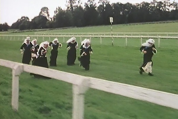 "The Queen Victoria Handicap race at Epsom; ""Monty Python's Flying Circus,"" season 4, episode 4."