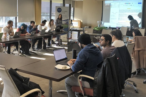 Members of the Cities and Climate Action Forum at Windsor Law held a research-a-thon Monday as part of a national effort.