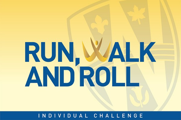 logo of the Run, Walk and Roll Individual Challenge.