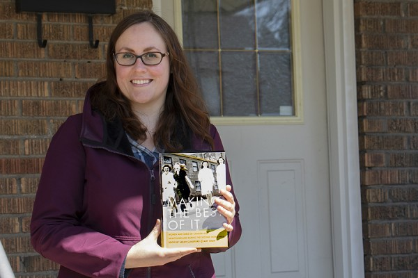 Sarah Glassford holding her book