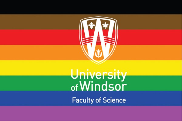 Faculty of Science logo over rainbow flag