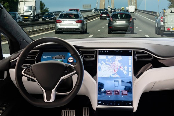 interior of self-driving car