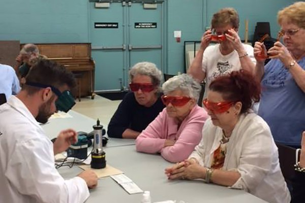 Seniors at the Life After Fifty West Windsor community centre enjoyed a workshop on forensic sciences.