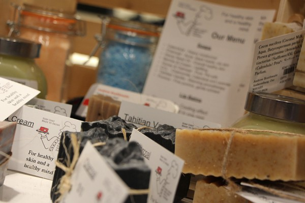 The Campus Bookstore sells natural skin care products handmade by UWindsor chef Andrew Braithwaite.