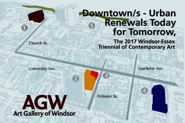map of downtown Windsor