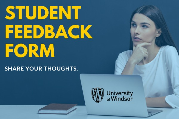 Woman contemplating Student Feedback Form