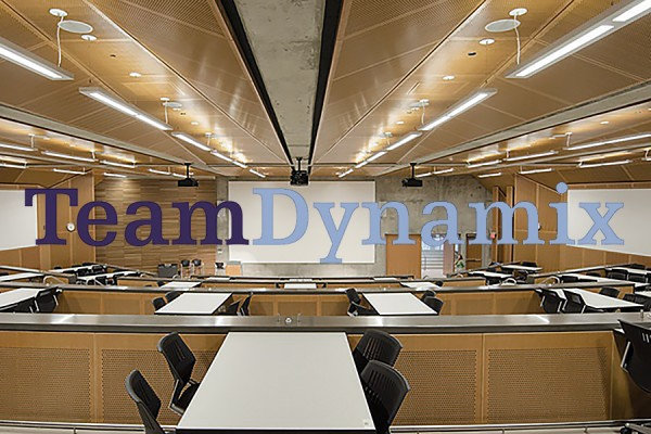 classroom with TeamDynamix superimposed