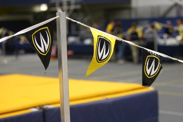 pennants in blue and gold