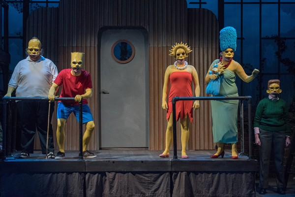 University Players dressed as characters from the Simpsons
