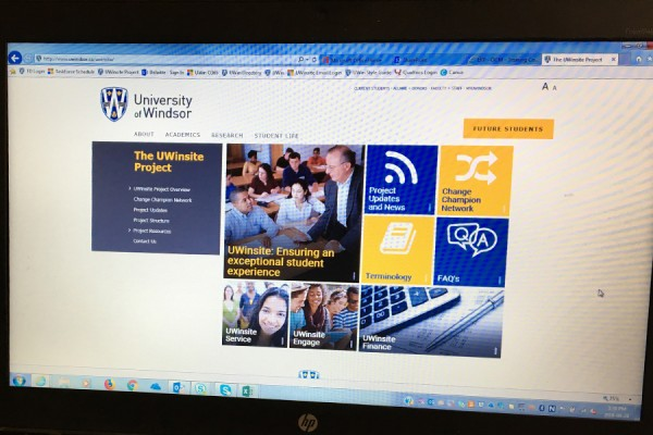 screen displaying UWinsite