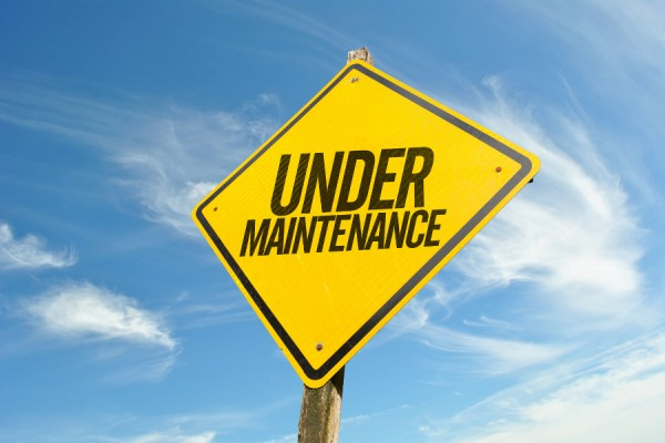 "sign reading ""under maintenance"""
