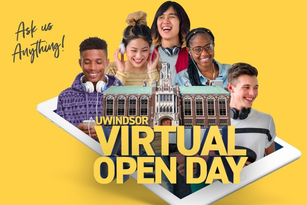 graphic depicting Virtual Open Day