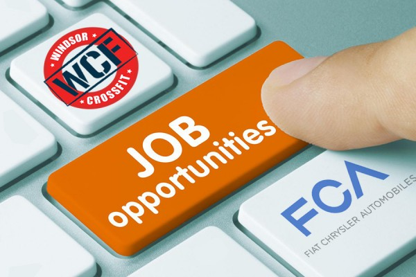 "keyboard labelled ""Job Opportunities"" with logoes of FCA and WCF"