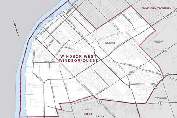 map of Windsor-West riding